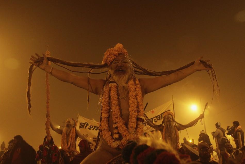 Naga Sadhus to Electrify T-Godavari Pushkarlu