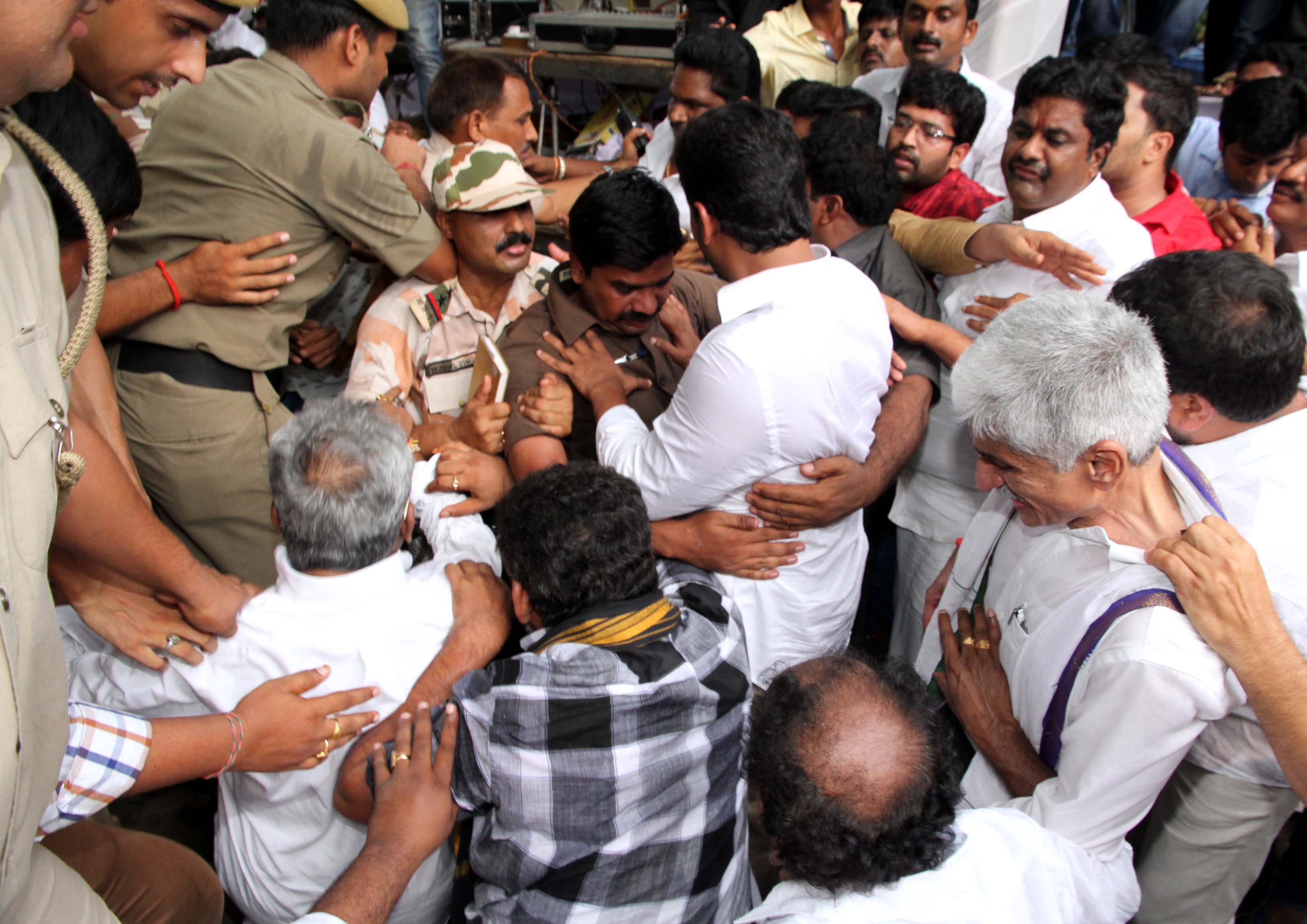 Jagan arrested and released