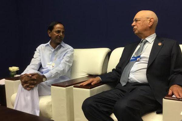 KCR invites WEF to Hyderabad