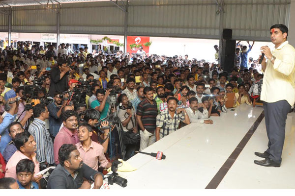 Lokesh mobilizing youth support to father