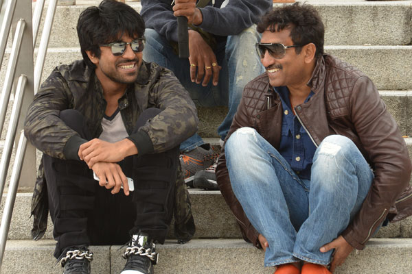 Ram Charan on a shooting spree!