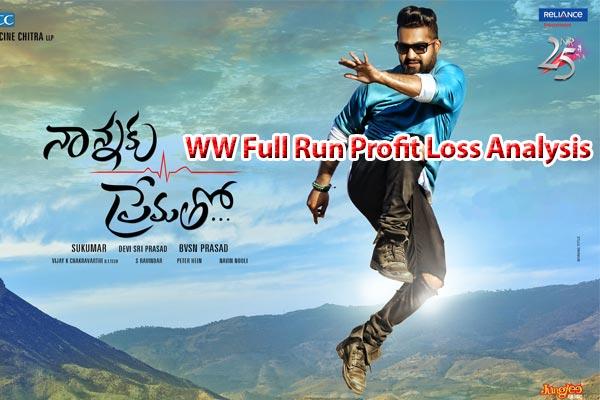 WW Full Run Profit Loss Analysis  : Nannaku Prematho
