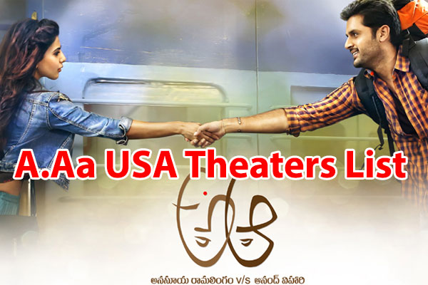 A Aa In Telugu: Trivikram's Nithin Samantha A.Aa USA Theaters List