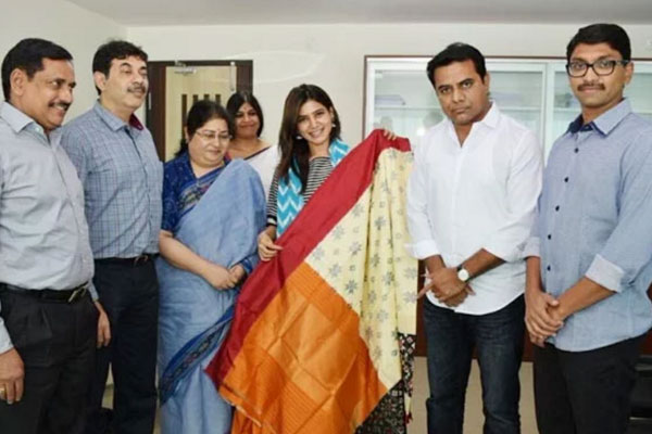 Uproar over naming Samantha as Telangana's Brand Ambassador for Handlooms