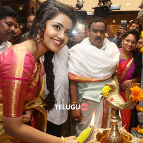 Anupama At VRK Silks Opening