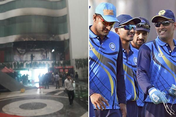 Dhoni, cricketers evacuated after fire at hotel