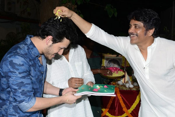 Akhil second movie Launch
