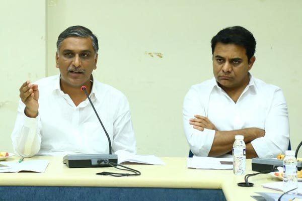 We have to live with virus, says KTR, Harish Rao