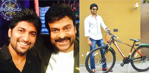 Megastar keeps his Promise: Nani thrilled with the Gift