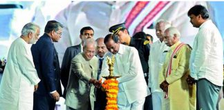 CM KCR in his first visit to OU, avoids students