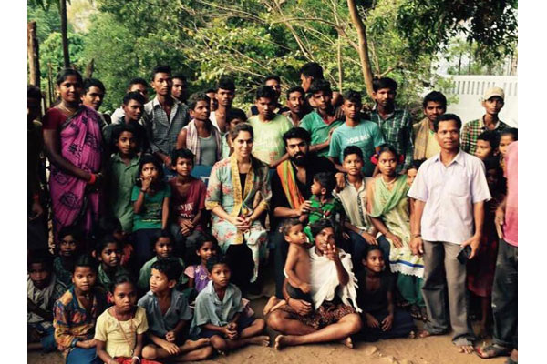 Ram Charan and Upasana take time off to meet villagers