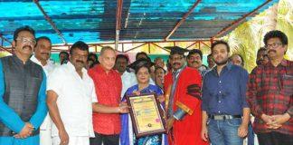 Vijaya Niramala receiving doctorate
