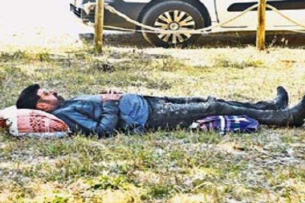 Simplicity Level: Balayya Takes a Nap on Ground