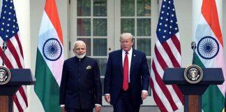 Donald Trump and Indian Prime Minister Narendra Modi
