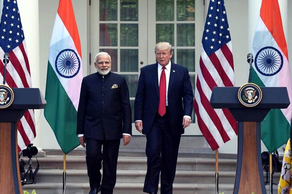 Donald Trump and Indian Prime Minister Narendra Modi