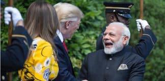 World leaders in social media Trump and Modi meet
