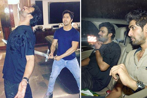 Prabhas and Rana party hard with Karan Johar