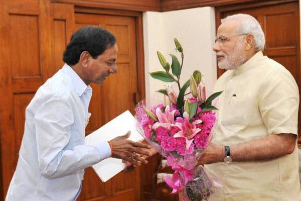 KCR meets Modi, seeks increase in assembly seats