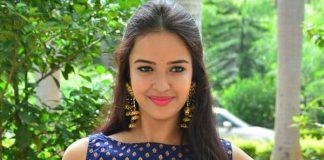 Poojitha Stills at Darshakudu movie press meet