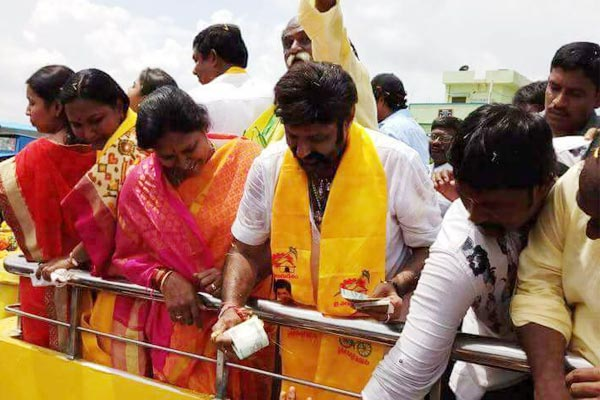 Balakrishna slaps fan in Nandyala