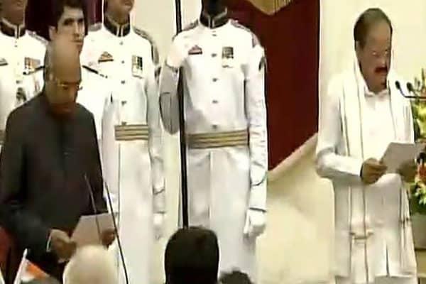 Venkaiah sworn-in as Vice President of India