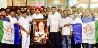 Botsa pays Tributes to Late YSR on his US Tour