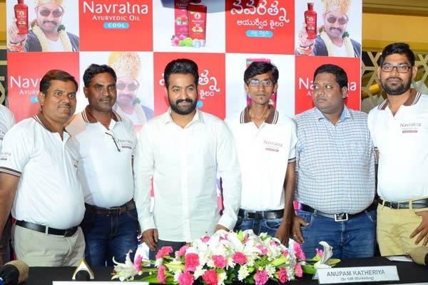NTR at Navratna Oil Press Meet