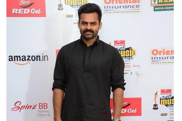 Sai Dharamtej at Mirchi Music Awards