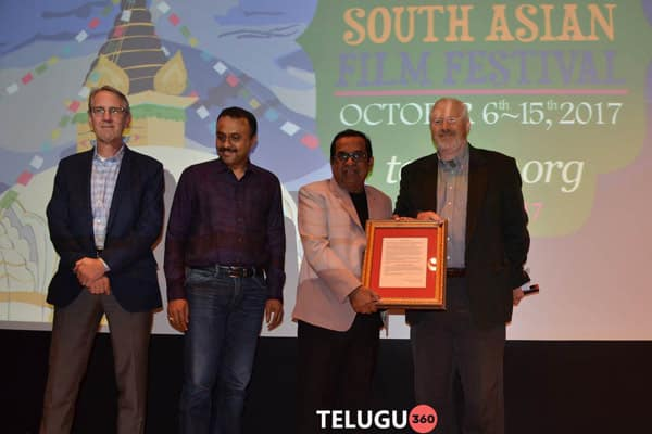 Brahmanandam Felicitated By South Asian Film Festival