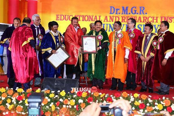 Dr. M Mohan Babu has been conferred honorary doctorate by MGR University