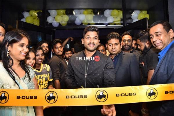 Allu Arjun launches Buffalo Wild Wings as B-Dubs in Hyderabad
