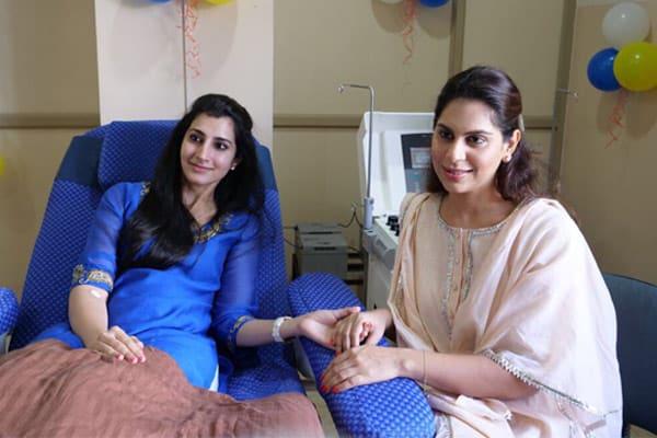 Brahmani, Upasana donates blood