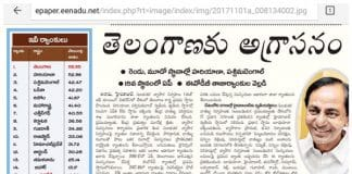 Eenadu Ease Of Doing Buisness ranks