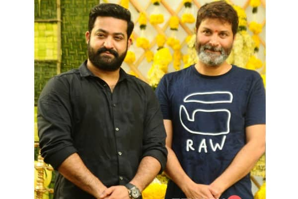 NTR and Trivikram in Shooting Mode