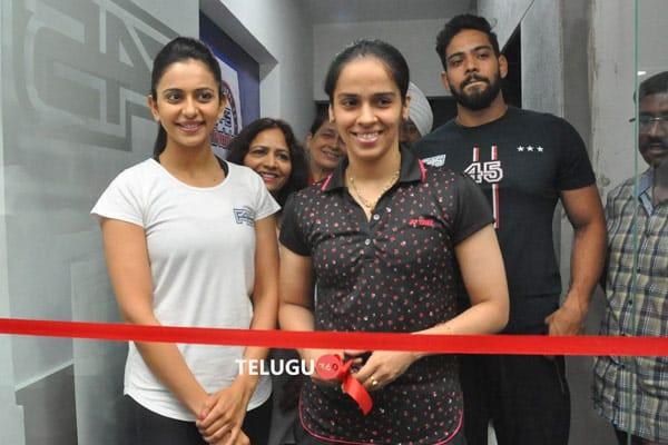 Saina Nehwal & Rakul Opening of F45 GYM