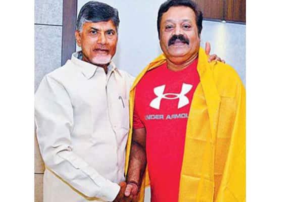 Malayalam actor and BJP MP Suresh Gopi meets Chandrababu