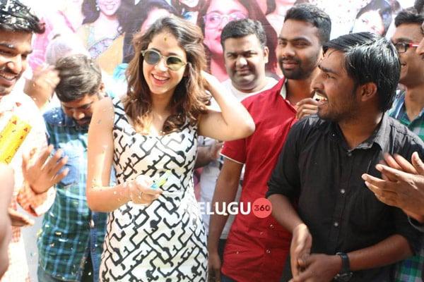 Lavanya Tripathi B'day Pics With Fans