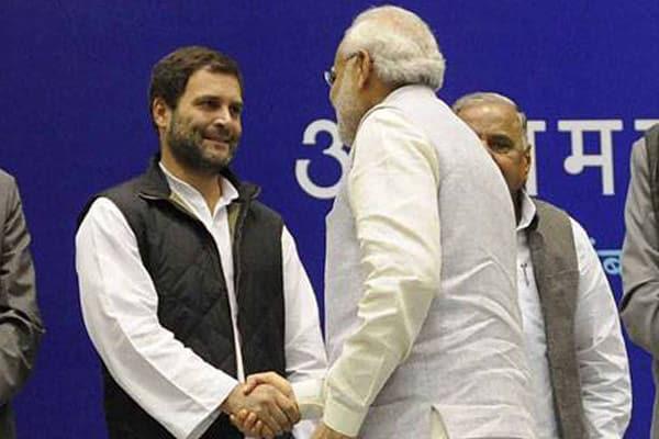 Modi congratulates Rahul on 'election' as Congress President