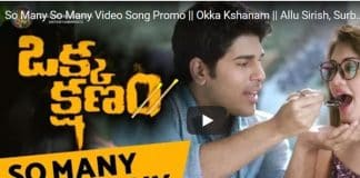 Okka Kshanam's Quirky Promo Video