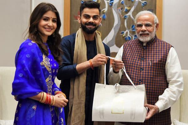 Virat, Anushka meet Modi