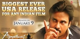 Agnyaathavaasi Movie Power Mania in Overseas