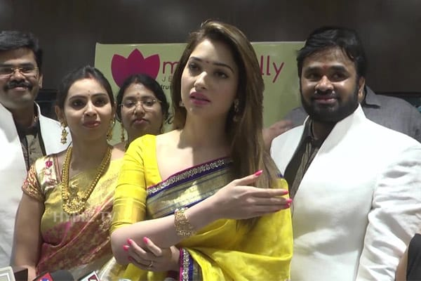 Cheppal thrown on actress Tamannaah, man detained