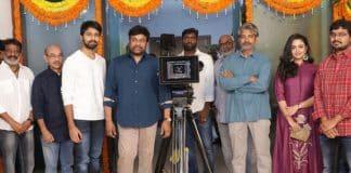 Chiranjeevi launches Kalyaan Dev Debut Film Photos