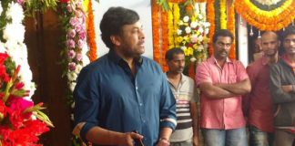 Chiranjeevi gives first clap for son-in-law Kalyan Kannuganti 's debut