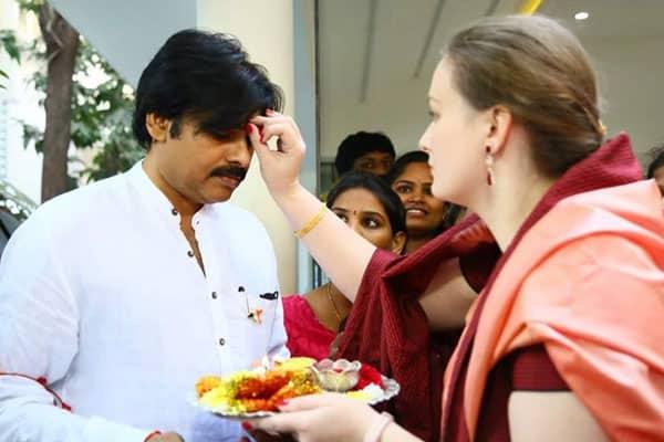 Pic Talk - Pawan Got Veera Tilakam From Wife