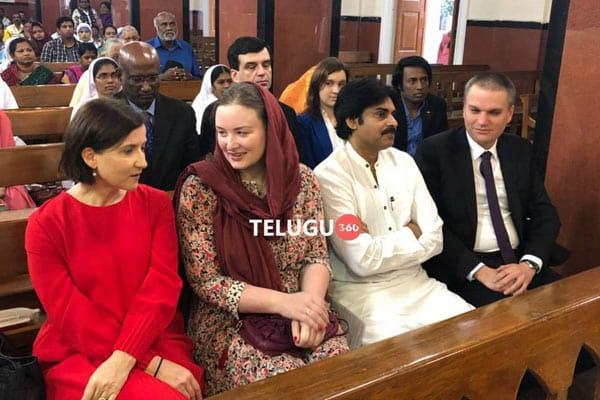 Pawan Kalyan & Anna Lezhneva at St. Mary's basilica