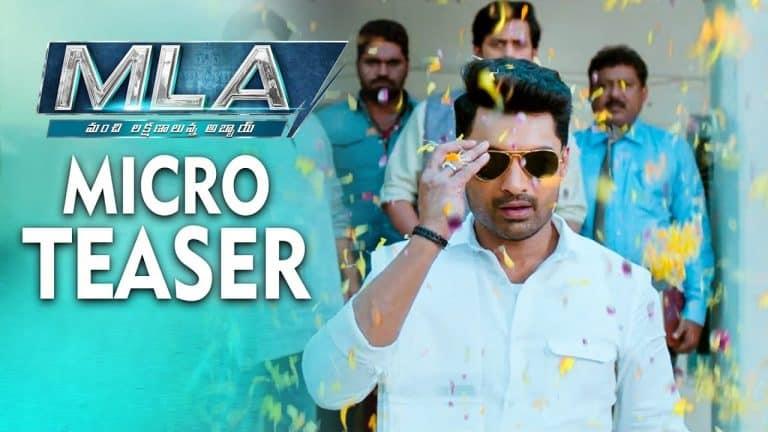 MLA teaser : Kalyan Ram impresses in demagogue avatar