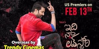 """Tarun's 'Idi Naa Love Story' Overseas by Trendy Cinemas"""
