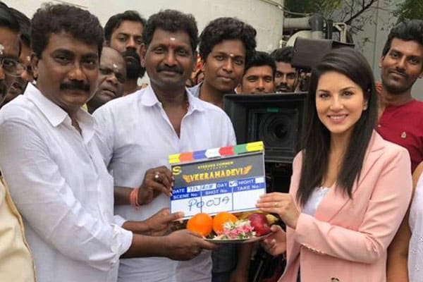 Sunny Leone's periodic epic Veeramadevi starts rolling