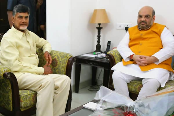Amit Shah calls Chandrababu as TDP decides to step up fight